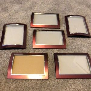 """Picture frames set of 6 to hang on walls 5 x 7"""""""